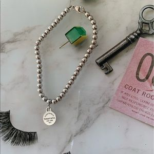 Return to Tiffany Mini Round Tag Beaded Bracelet